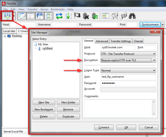 Enabling TLS on Common FTP Software - Hostek com Wiki